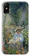 Julie And Ludovic-rodolphe Pissarro Among The Flowers, 1879 IPhone Case