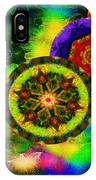 Kaleidoscope Moon For Children Gone To Soon Number - 3 Intensified  IPhone Case by Aberjhani