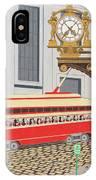 Kaufmann Clock IPhone Case by John Wiegand