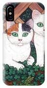 Kittens And Clover IPhone Case