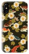 Koi And Lily Pads In Dark Water IPhone Case