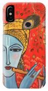 Krishna With Flute IPhone Case