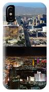 Las Vegas Night And Day Work A IPhone Case