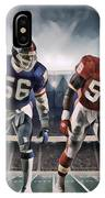 Lawrence Taylor New York Giants And Derrick Thomas Kansas City Chiefs Abstract Art 1 IPhone X Case