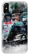 Lewis Hamilton, Mercedes Amg F1 W09 - 10 IPhone Case