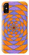 Light Violet On Blue, Yellow On Red Fractal Pattern IPhone Case