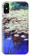 Lilies On Blue Water IPhone Case