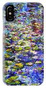 Lily  Pond Impressions Oil Painting IPhone X Case