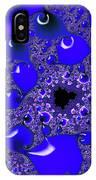 Liquid Blue Paint IPhone Case