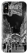 London Nightlife Carnaby Street London Uk United Kingdom Black And White IPhone Case