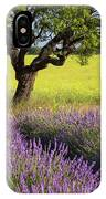 Lone Tree In Lavender And Mustard Fields IPhone Case by Brian Jannsen