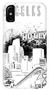 Los Angeles Skyline Panorama White IPhone Case