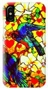 Love Birds In The Love Tree With Hibiscus IPhone Case