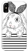 Lovely Bunny Girl With Lace Ears Qnd IPhone X Case