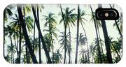 Low Angle View Of Coconut Palm Trees IPhone X Case