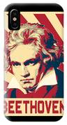 Ludwig Van Beethoven Retro Propaganda IPhone Case