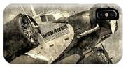 Lufthansa Junkers Ju 52 Vintage IPhone Case