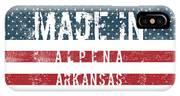 Made In Alpena, Arkansas #alpena #arkansas IPhone Case