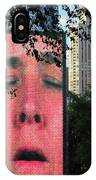 Man Face Crown Fountain Chicago IPhone Case
