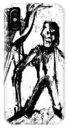 Man Standing With A Bird IPhone Case