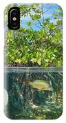 Mangrove Above And Below Water Surface IPhone Case