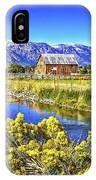 Marlboro Barn, Gardnerville, Nevada IPhone Case