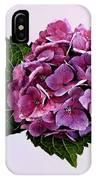 Maroon Hydrangea IPhone Case