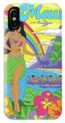 Maui Poster - Pop Art - Travel IPhone Case