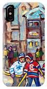 Mcgill University Roddick Gates Original Painting For Sale Hoockey Art C Spandau Canadian City Scene IPhone Case