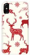 Merry Christmas Reindeer,reindeer IPhone X Case