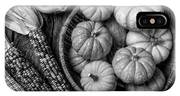 Mimi Pumpkins In Wicker Bowl Black And White IPhone X Case