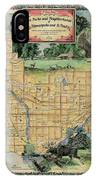 Minneapolis St. Paul Map Vintage Custom Map Art Hand Painted IPhone Case
