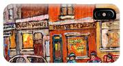 Molly And Bill's Duluth Near Coloniale And St Dominique C Spandau Plateau Mont Royal Hockey Artist  IPhone Case