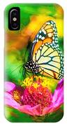 Monarch Butterfly Impasto Colorful IPhone Case by Don Northup