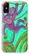 Monkeys On Creepers IPhone Case