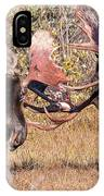 Moose Bulls Spar Close Up IPhone Case