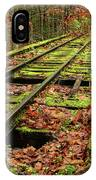 Mossy Train Track In Fall IPhone Case