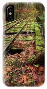 Mossy Train Tracks IPhone Case