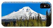 Mount Hood Oregon In Winter 02 IPhone Case