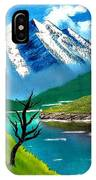 Mountain By The Lake IPhone Case