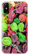 Multi Mini Hot Pepper Variety IPhone Case