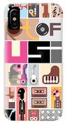 Musical Collage Of Various Images - IPhone X Case