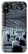 National Cemetery In Black And White IPhone Case by Tom Singleton