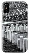National Cemetery IPhone Case by Tom Singleton