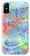 New Orleans Map Watercolor IPhone X Case
