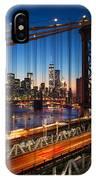 New York City - Beautiful Sunset Over IPhone X Case