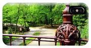 New York's Central Park Winterdale Arch Railing Cast Iron Art IPhone X Case