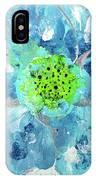 Oceanbreeze Blue-green Windflower IPhone X Case