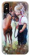 Oil Painting Of Little Girl Petting Her IPhone Case