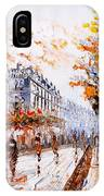 Oil Painting - Street View Of Paris IPhone X Case